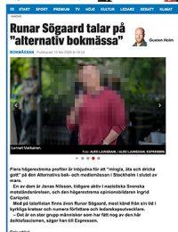 Skärmdump från Expressen 10 feb 2020 med Lennart Matikainen i bild. Bilden är pixelerad för att skydda upphovsrätten.