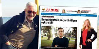 Jan Norberg. Foto NewsVoice. Pressfoto på Anna Dahlberg och skärmdump från Expressen (foto MUF). Montage: NewsVoice.