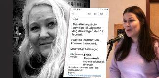 Marlen Fuglsang och Frida Bramstedt (KD)
