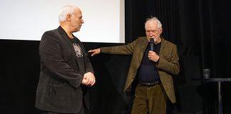 Filmproducenten Börje Peratt och dr Erik Enby - Filmhuset 8 mars 2020. Foto: Torbjörn Sassersson