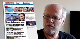 Börje Peratt (eget verk). Sida från Expressen.se. Montage: NewsVoice