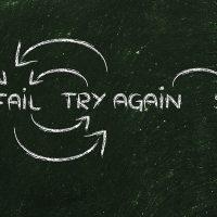 Try fail success. Licens: Shutterstock.com, 346881887
