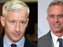 Anderson Cooper (foto: Minds Eye, licens: CC BY-SA 2.0) och Robert F. Kennedy Jr (foto: Gage Skidmore, licens: CC BY-SA 3.0)