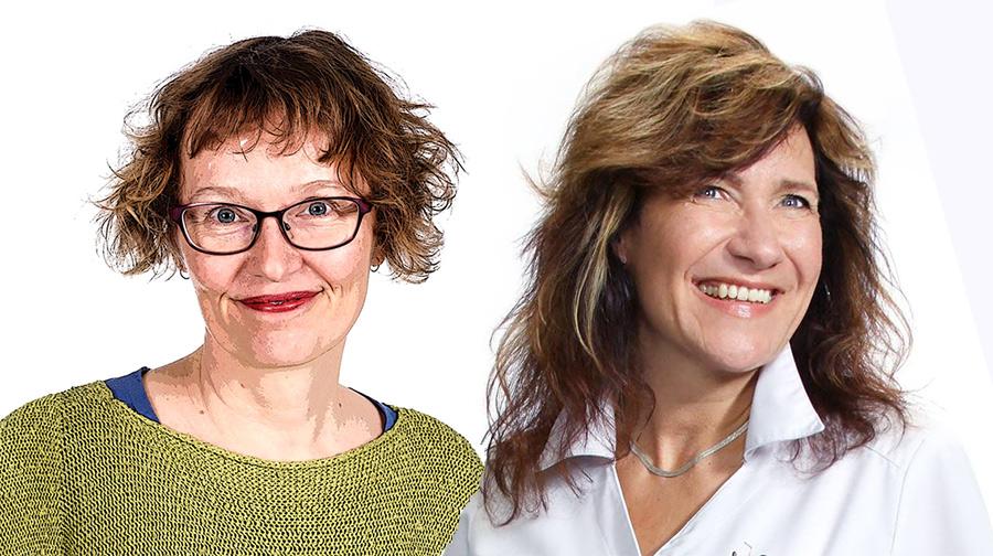 Anna-Viveca Gardberg (pressfoto: Marcus-Rosenlund, YLE). Ann-Katrine Backman (pressfoto)