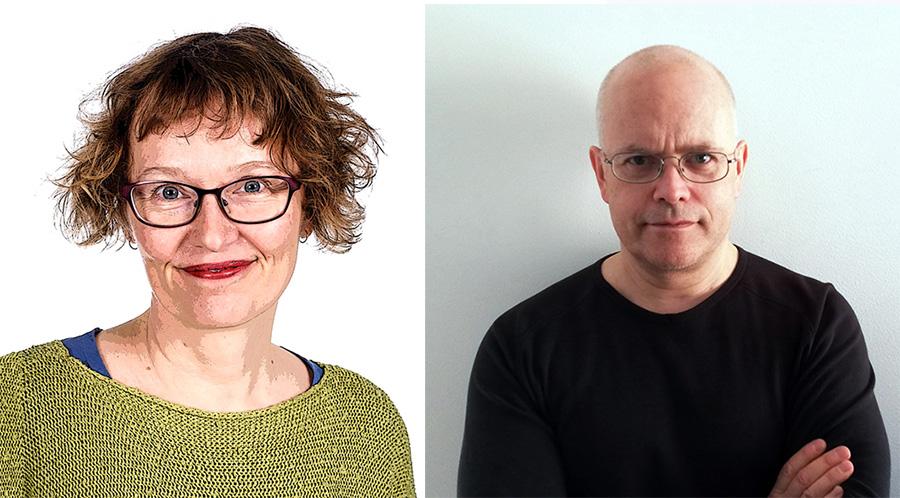 Annvi Gardberg. Pressfoto: Marcus-Rosenlund för YLE. Torbjörn Sasserssson. Pressfoto: NewsVoice.se