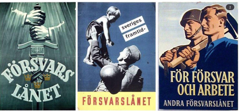 Försvarslånet. Andra världskriget. Propagandabilder från svenska Försvarsmakten.