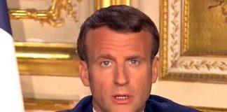 Emanuel Macron, 13 april 2020. Foto: Élyséepalatset i Paris, är den franske presidentens officiella residens.