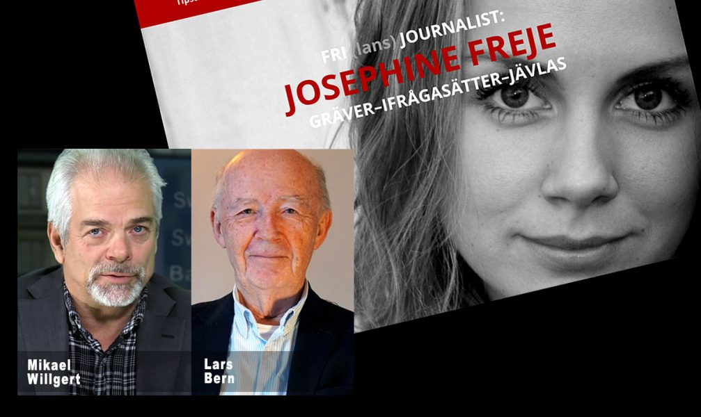 Josephine Freje Simonsson (bild från privat hemsida), Mikael Willgert (foto: SwebbTV) och Lars Bern (foto: NewsVoice.se)