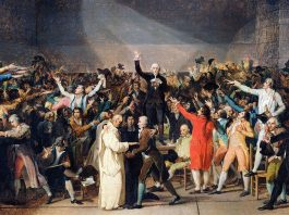 The French Revolution. Painting by Jacques Louis-David (1748–1825)