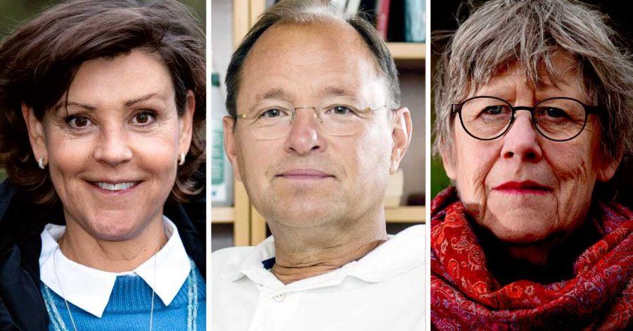 Lottie Knutson, Björn Olsen och Agnes Wold. Pressfoton.