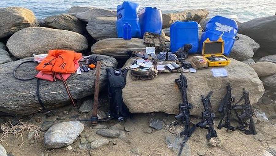 Terroristernas utrustning, Venezuela, intrångsförsök 3 maj 2020. Foto tillhandahållet av TeleSUR via Twitter #mission_truth