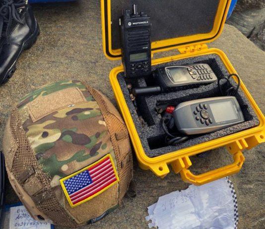 Terroristernas utrustning, Venezuela, intrångsförsök 3 maj 2020. Foto tillhandahållet av Patricia Villegas Marin, TeleSUR