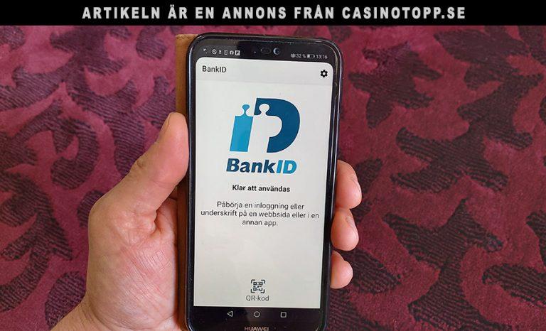 Enklare nätcasino med BankID och Swish