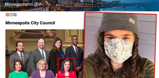 Lisa Bender, City Head, Minneapolis City Counsil. Photos: ci.minneapolis.mn.us and private Twitter. Montage: NewsVoice.se