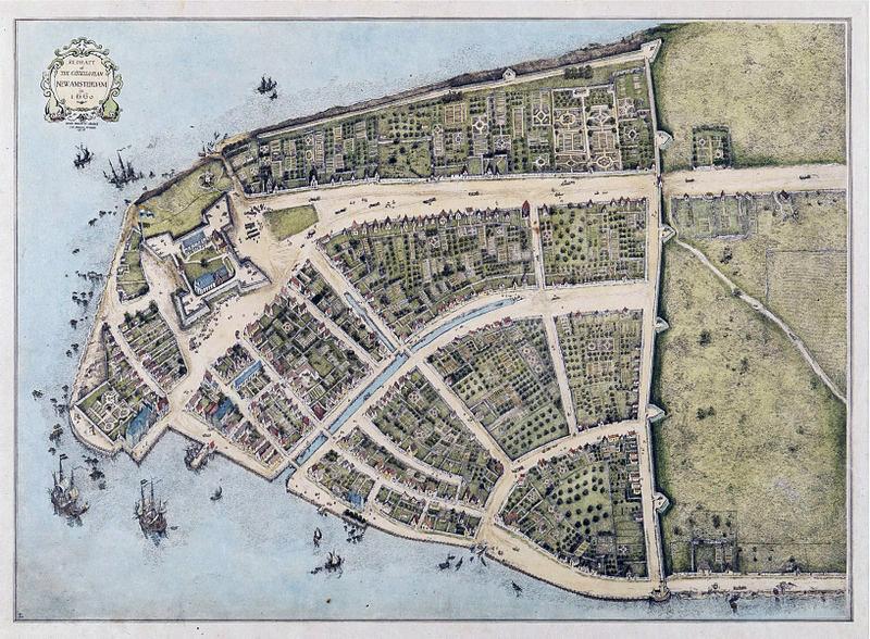 New York år 1660, karta