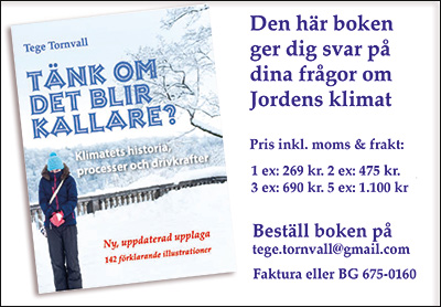 """Boken: """"Tänk om det blir kallare"""" av Tege Tornvall"""