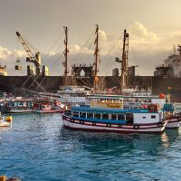 Lastfartyg i Kina. Foto: Quang Nguyen Vinh. Licens: Pexels.com