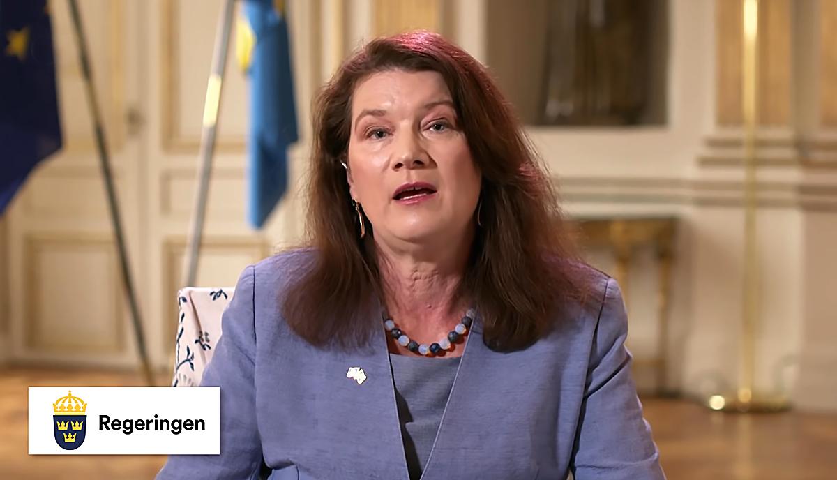 Utrikesminister Ann Linde, maj 2020 (foto: Regeringen via DW.com)