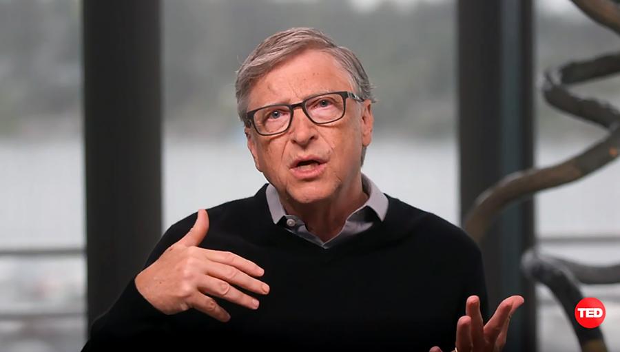 Bill Gates 29 juni 2020. Foto: eget arbete (via TED.com)