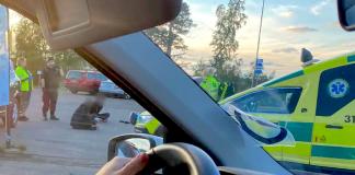 Kiruna, mord, buss, 2020. Foto: läsarbild