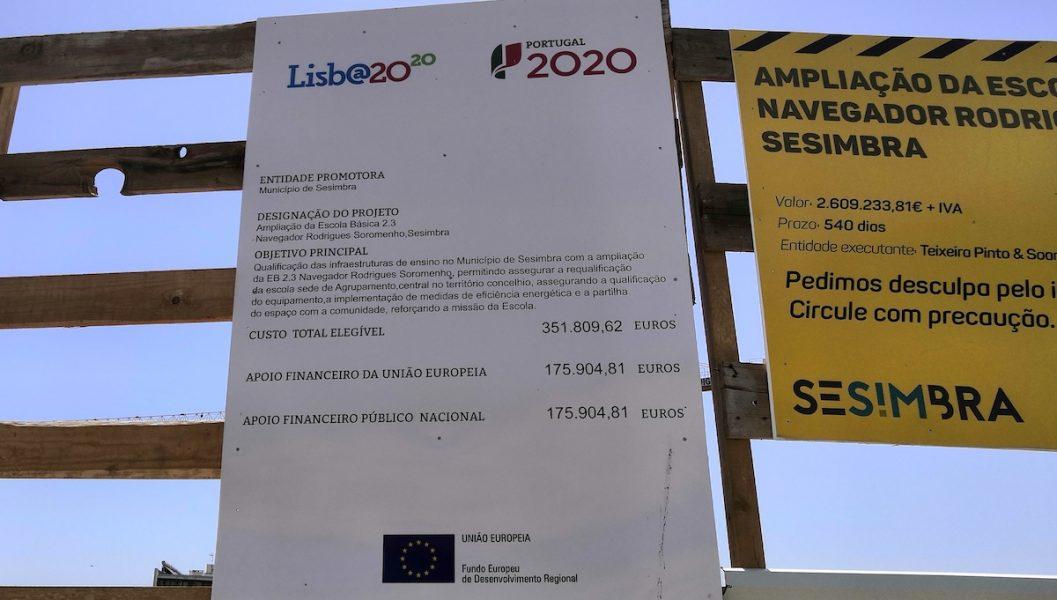 Informationsskylt i Sesimbra, Portugal. Foto: Jan Norberg