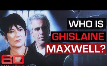 Gishlaine Maxwell, Jeffrey Epstein. Montage: 60 Minutes Australia