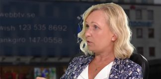 Prästen Helena Edlund, 29 aug 2020. Foto: SwebbTV