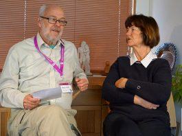 Ingemar Ljungqvist och läkaren Agneta Schnittger, 2020. Foto: T. Sassersson, NewsVoice
