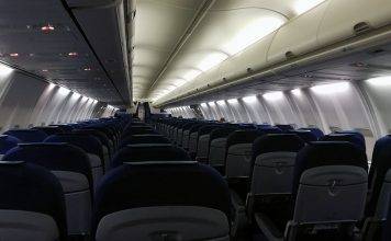 KLM flight KL1581 från Amsterdam till Athen, 22 aug 2020. Foto: NewsVoice.se
