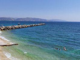 Samos med Turkiets som kuliss i horisonten. Samos, Ireon, 25 aug 2020. Foto: Sassersson