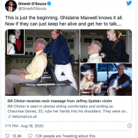 Bill Clinton massaged by Epstein's girl Chantae Davies - Photos obtained by Daily Mail