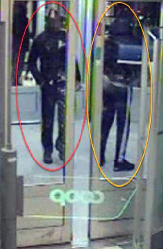 Misstänkta för rån och kissförnedring. Polisens foto