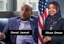 Omal Jamal och Ilhan Omar. Foto: Project Veritas respektive Kristie Boyd (U.S. House Office of Photoraphy) Public Domain