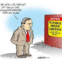 Socialdemokraterna - en klan. Illustration: Jan-Erik Ander, Jeanders.com och Jeanders-bilder.blogspot.com