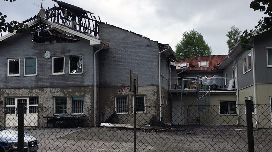 Brand i svensk skola. Arkivbild: Öppna Kanalen Växjö