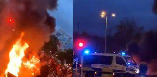 Upplopp i Malmö efter koranbränning, 28 aug 2020. Privata foton.