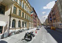 Franska ambassaden i Stockholm, Kommendörsgatan 13. Foto: Google Maps