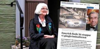 Harriet Larsson replikerar Emerich Roth Roth, SVD. Montage: NewsVoice