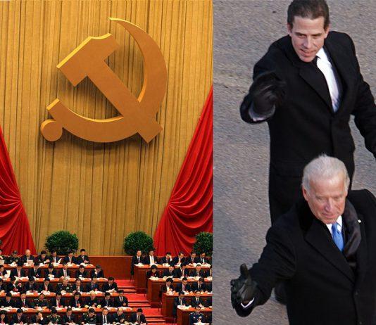 Hunter Biden, Joe Biden (foto: Ben Stanfield). Nationella Kongressen, Kinesiska Kommunistpartiet (foto: Dong Fang, Public Domain)