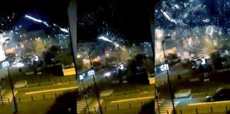 Polisstation i Frankrike attackeras med fyrverkerier, 11-12 okt 2020. Foto: Le Capricieux