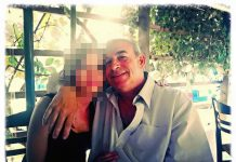 Stylianos K. with his daughter. Private photo