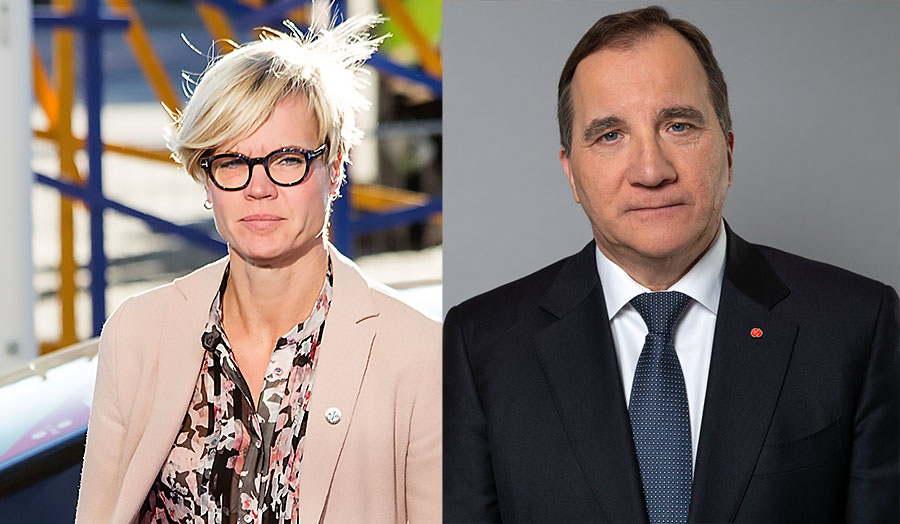 Elisabeth Backteman (foto: Estlands regering) och statsminister Stefan Löfven (foto: Kristian Pohl, Regeringskanlsiet)