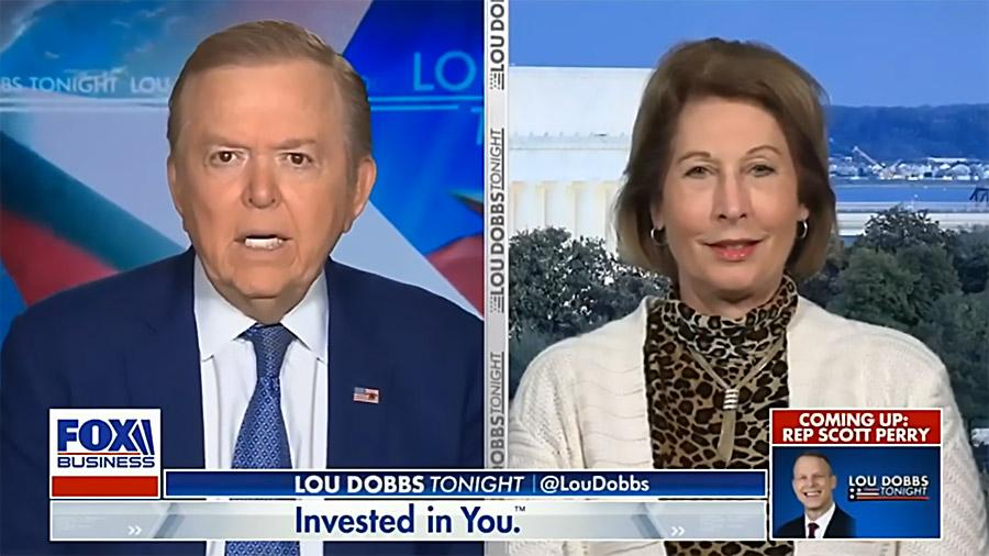 Lou Dobbs och Sidney Powell, nov 14, 2020. Foto: Fox News