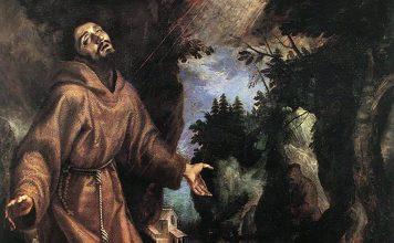 Franciskus av Assissi och hans vision av serafen och stigmatiseringen. Målning av Ludovico Cigoli. Licens: Public Domain, Wikimedia