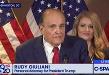 Rudy Giuliani, 19 nov 2020. Foto: CSpan