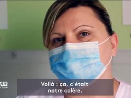 Bild: sjuksköterskan Sandra Rotureau. Foto: Hold-Up, fransk dokumentär