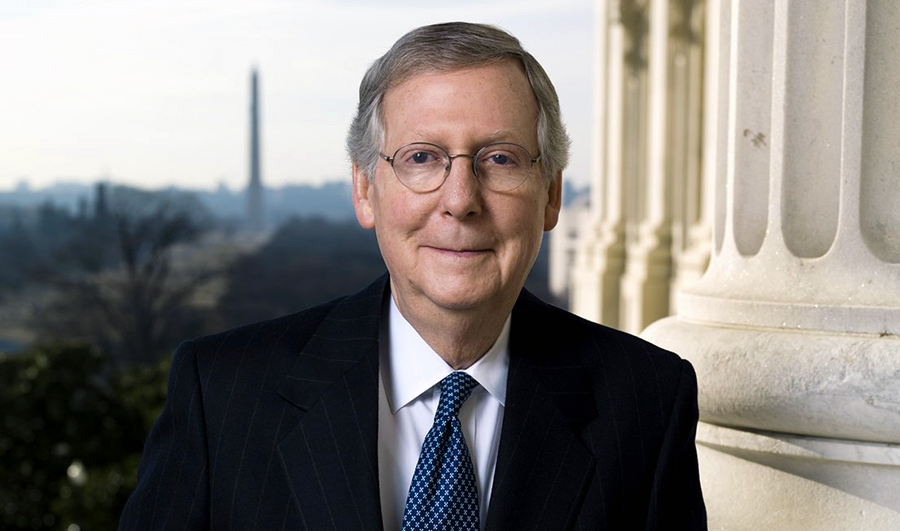 "Senator Mitch McConnell (Kentucky, USA). Foto: United States Senate. Licens: ""Official photo"""