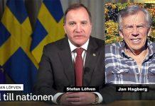 Stefan Löfven och Jan Hagberg, 2020. Foto: Regeringen resp. privat. Kollage: NewsVoice