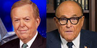 Lou Dobbs (foto: Fox News) och Rudy Giuliani (eget verk)
