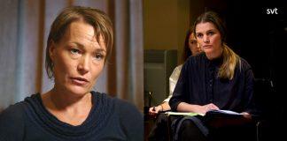 Linda Karlström och Malin Olofsson (th). Foto: SVT Play